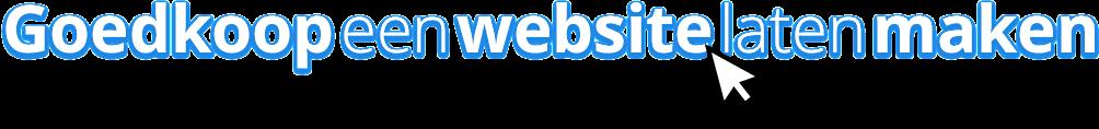 Goedkoop een website laten maken